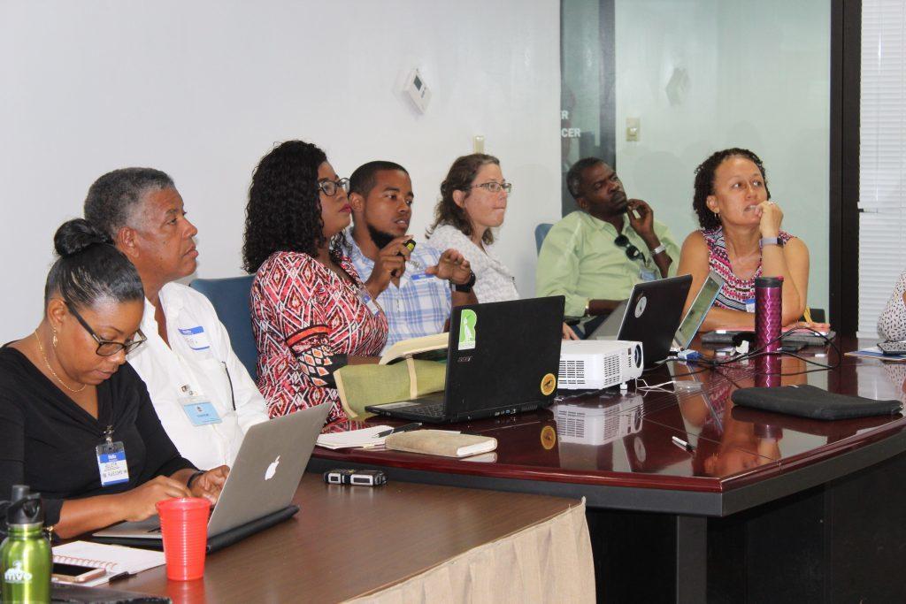 Redonda Steering Committee meeting. (Photo by Natalya Lawrence/ EAG Antigua)