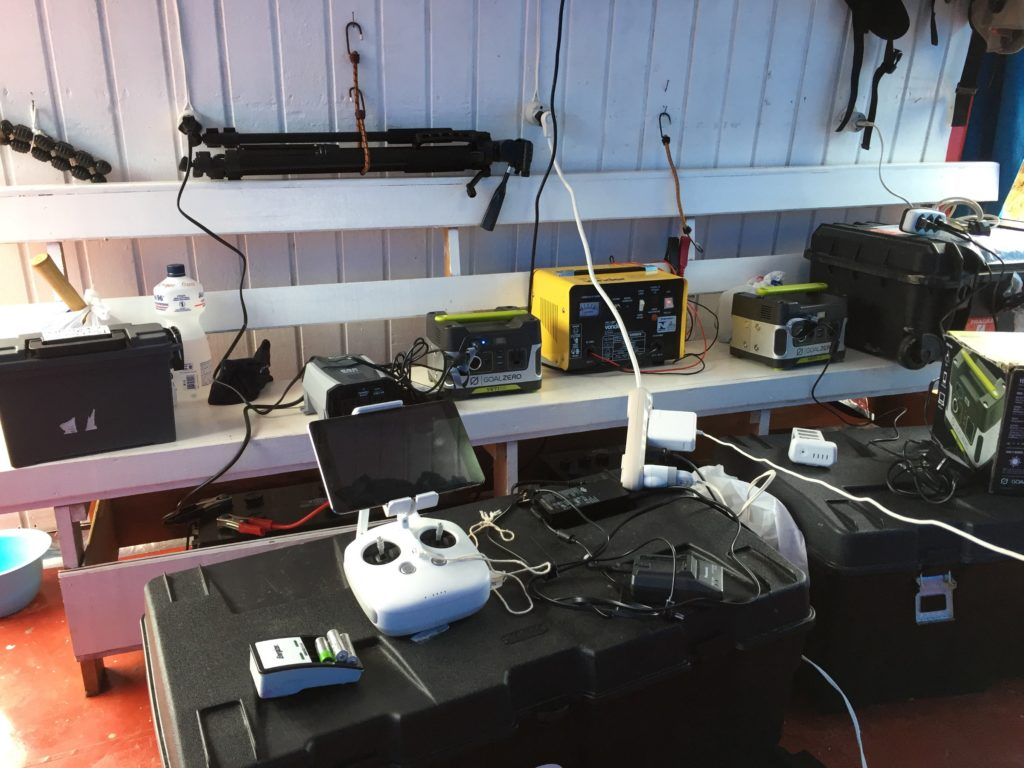 Houseboat Amazon's charging station. (Photo by Laura K. Marsh)
