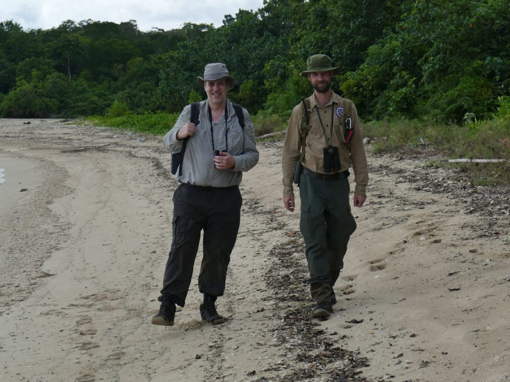 GWC's Mike Appleton and James Slade in Ujung Kulon National Park. (Photo courtesy of Mike Appleton)