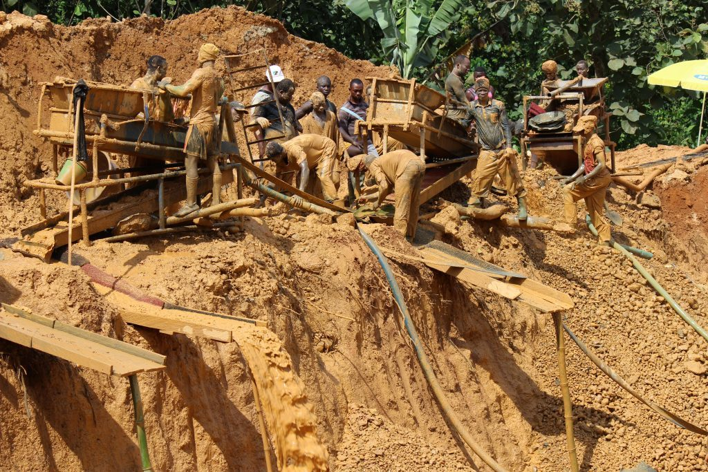 Artisinal gold mining has also posed a threat to Atewa Forest's health. (Photo by Jeremy Lindsell)