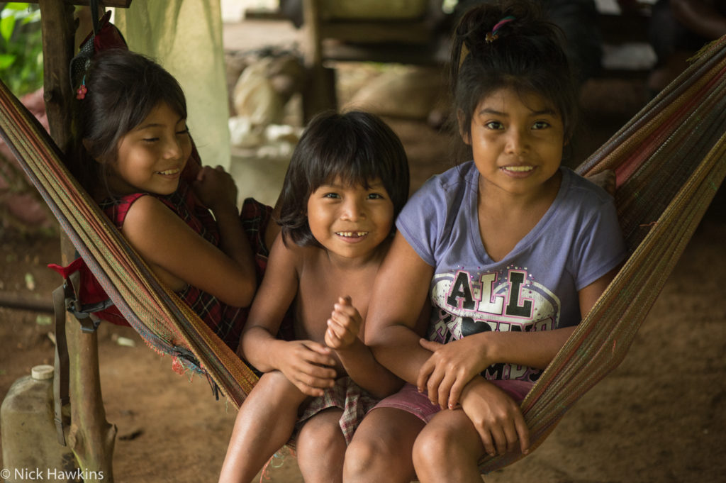 Rama children at their home along the Indian River. (Photo by Nick Hawkins)