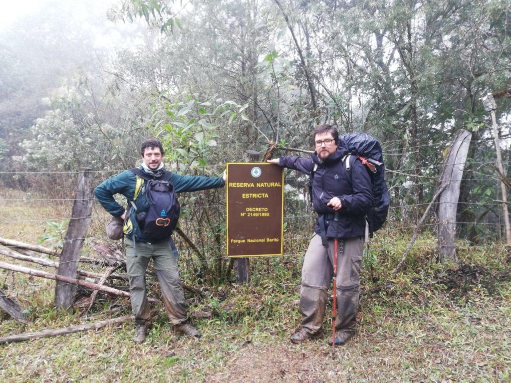 Biologists Martín Boullhesen and Mauricio Akmentins at Baritú National Park. (Photo by Martín Boullhesen)