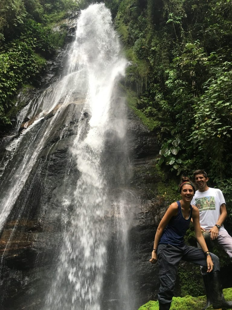 GWC's Nicaragua Programs Director Chris Jordan joins GWC Associate Conservation Scientist Nikki Roach during the first few days of her search for the Santa Marta Toro. (Photo courtesy of Nikki Roach)