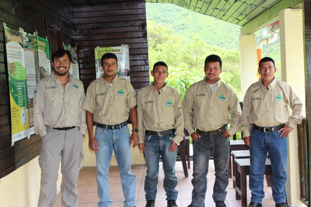 Carlos Vasquez-Almazan with rangers during a training session in Yal Unin Yul Witz Reserve. (Photo courtesy of Carlos Vásquez Almazán)