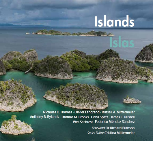 """Cover page of """"Islands,"""" the latest volume in CEMEX's Conservation Book Series."""