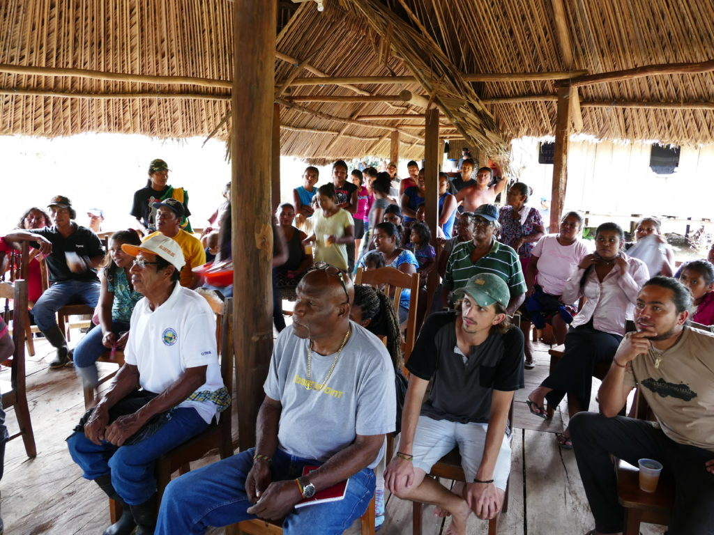 Members of the government of the Rama and Kriol and Global Wildlife Conservation