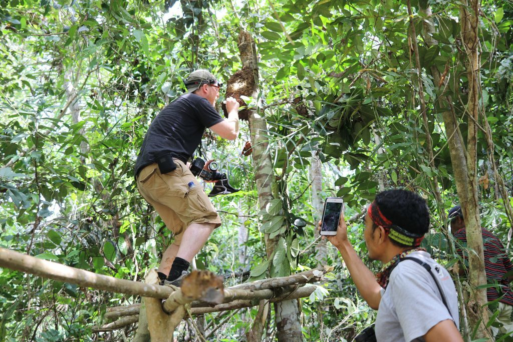 Scientist films natural history photographer