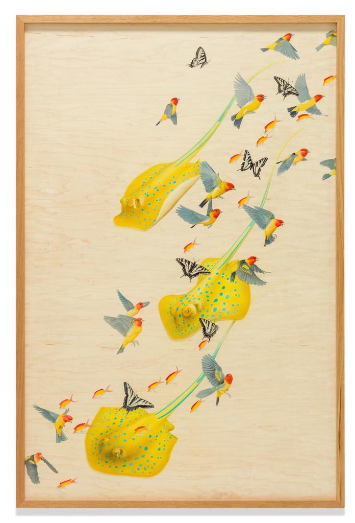 Tiffany Bozic, Joy, acrylic on maple panel, 49 x 32 in. (124.4 x 81.2 cm.), 2017. Donated by the artist.