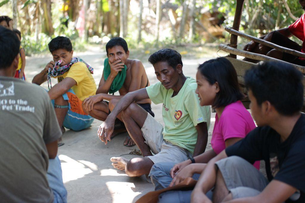 Working with the indigenous Batak people in Cleopatra's Needle. (Photo courtesy of Jessa Garibay)