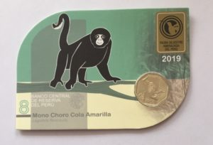 Yellow-tailed Woolly Monkey Coin Front