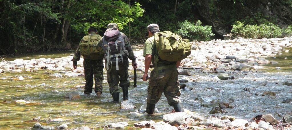 ranger team patrolling in belize