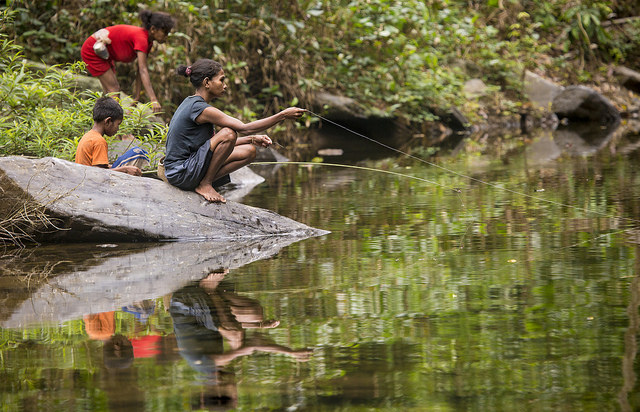 Batak tribe fishing