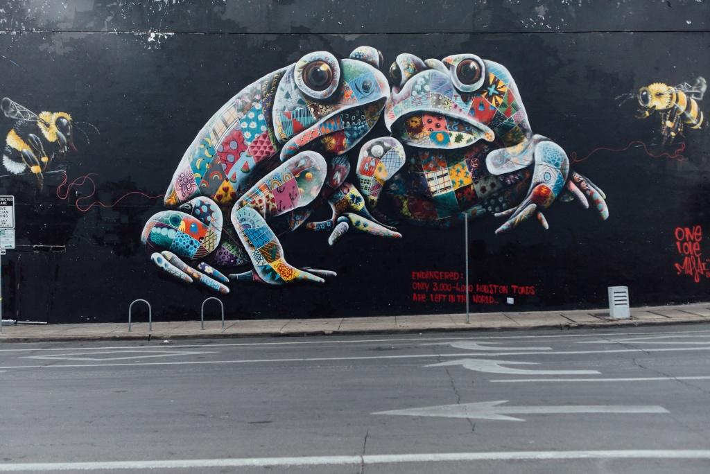 frog mural