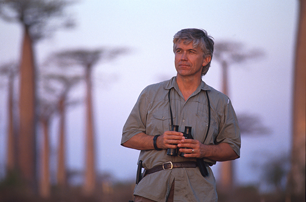 Russ in a baobab forest