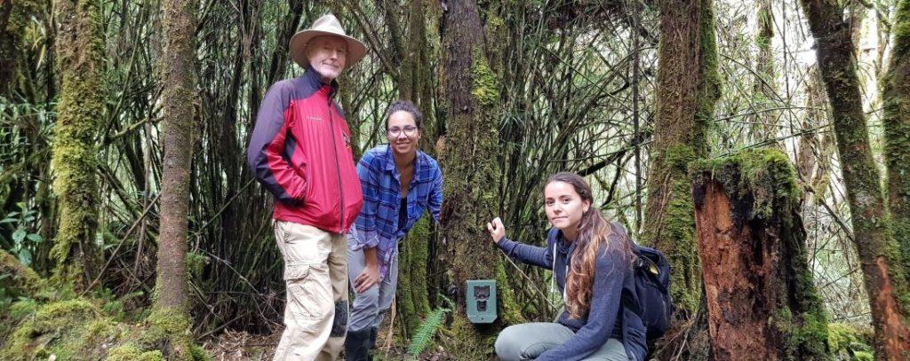 Jim Sanderson and camera trap team in Costa Rica