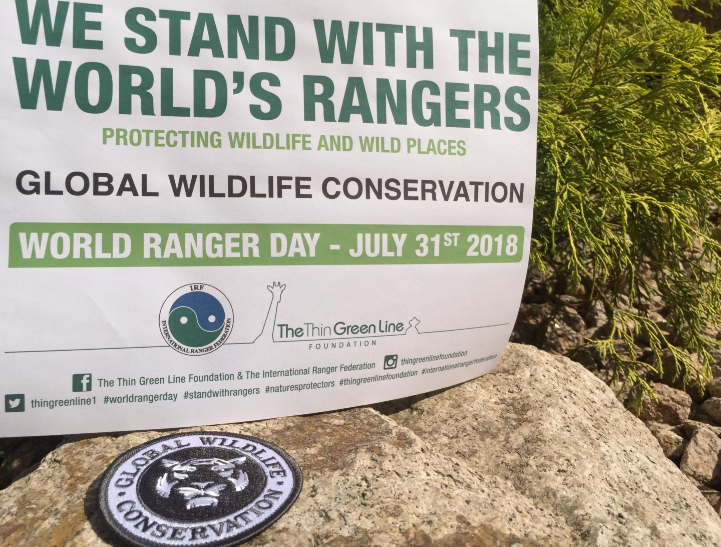 a GWC World Rangers Day sign