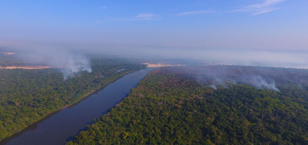 Cantão State Park on fire