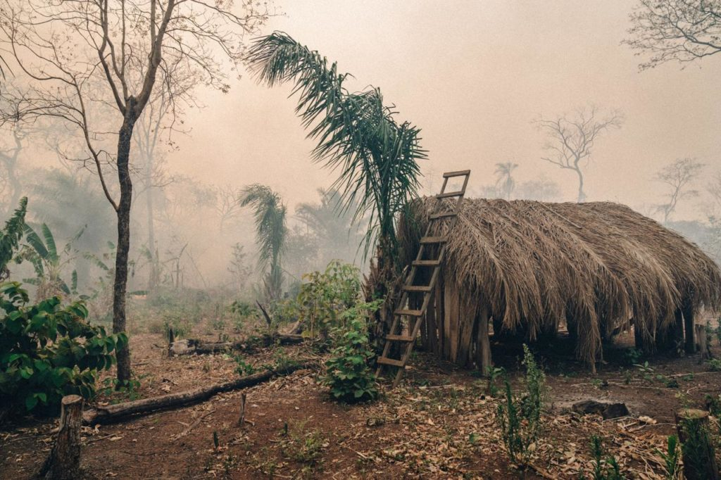 Local indigenous peoples homes affected by the wildfires
