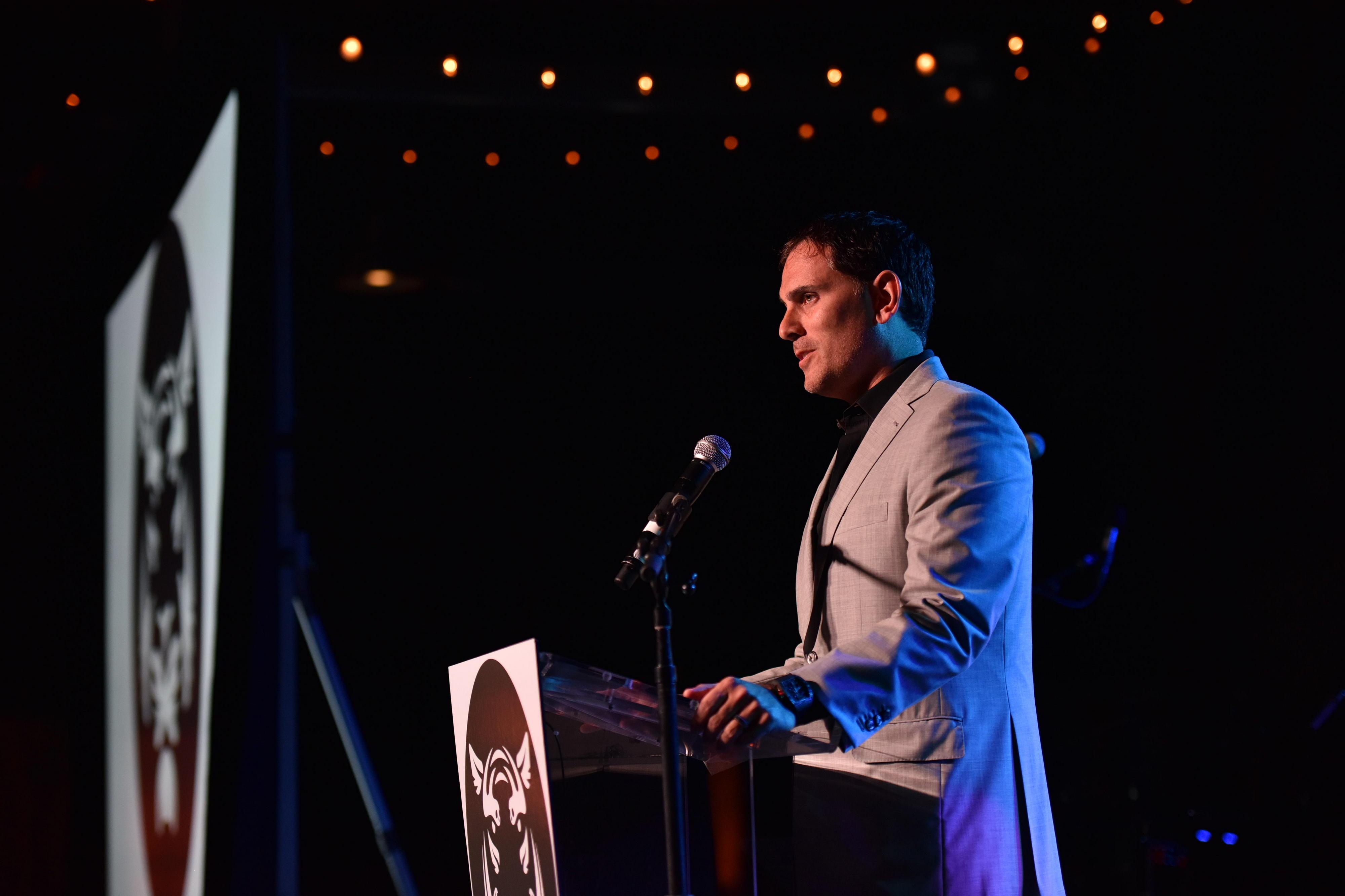 Brian Sheth addresses guests