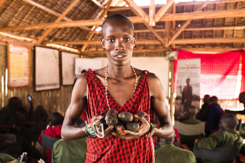 David Kanai, Maasai Warrior and Head of MWCT Simba Scouts Team.