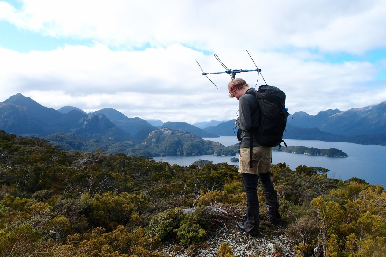 Ranger Freya with telemetry gear