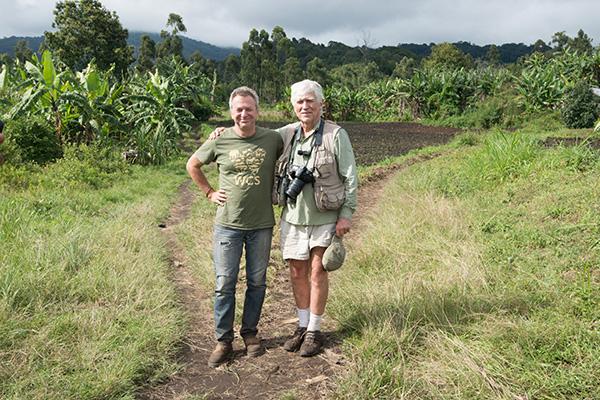 Tim Davenport (left), discovered and described Kipunji Monkeys in Tanzania. Credit: John C. Mittermeier