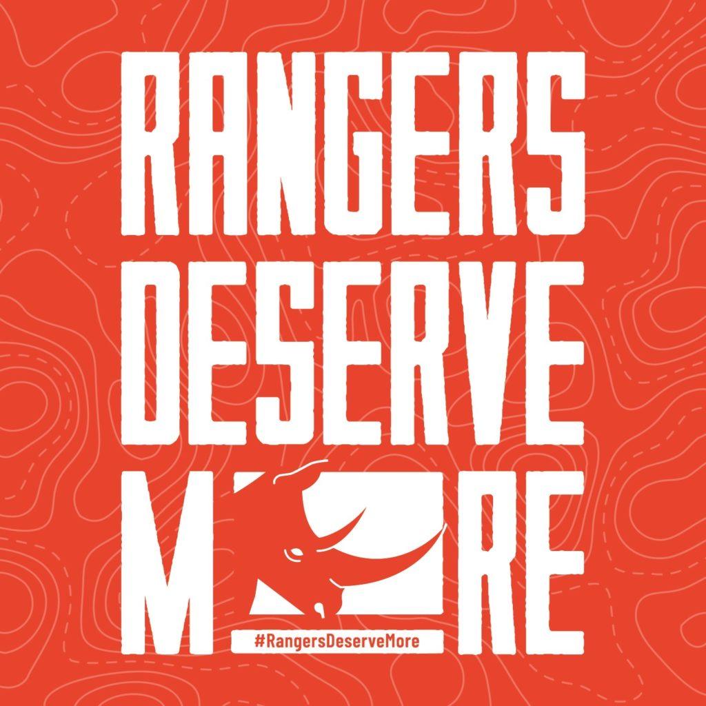 "Logo that reads: ""Rangers Deserve More"""