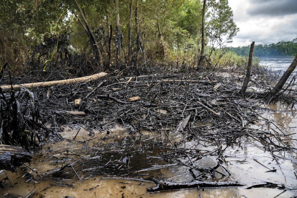 Crude oil spill